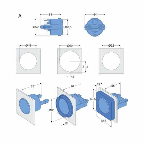 Inbouw schema VP meters