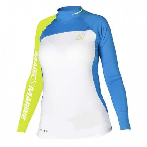 Magic Marine Ladies Cube Rash Vest Long Sleeve