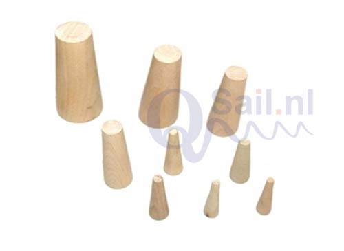 Set Zacht houten noodpluggen